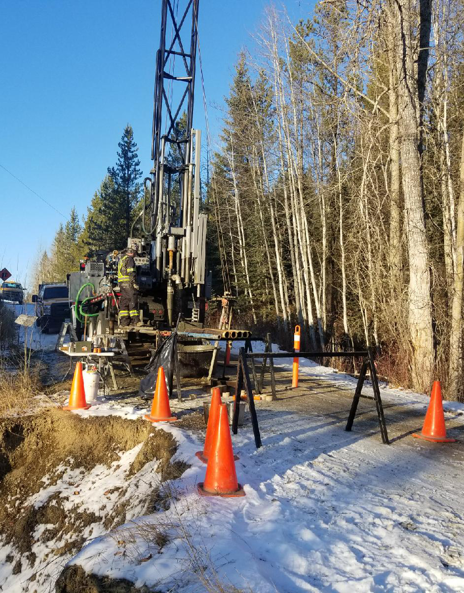 Drilling on site